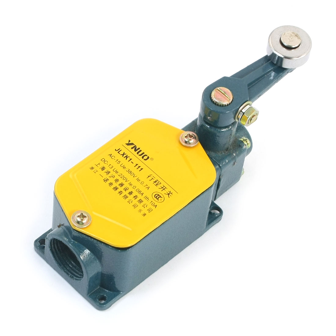 JLXK1-111 Left Right Dual Side Rotary Roller Arm Lever Enclosed SPDT 1NO 1NC Momentary Reset Limit Switch 380V 10A