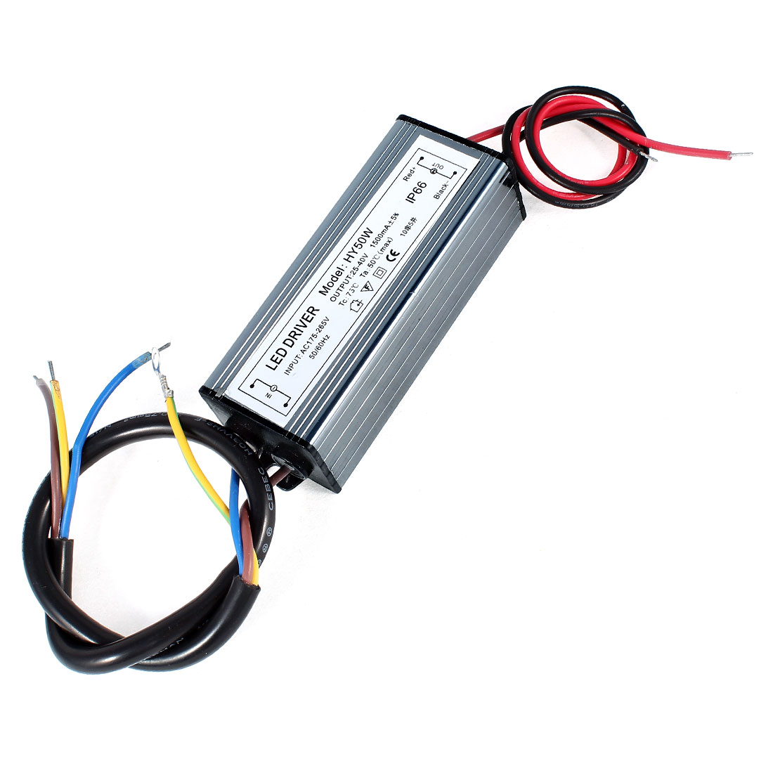 AC 85-265V DC 25-40V 1500mA Aluminum Housing LED Power Supply Driver HY50W