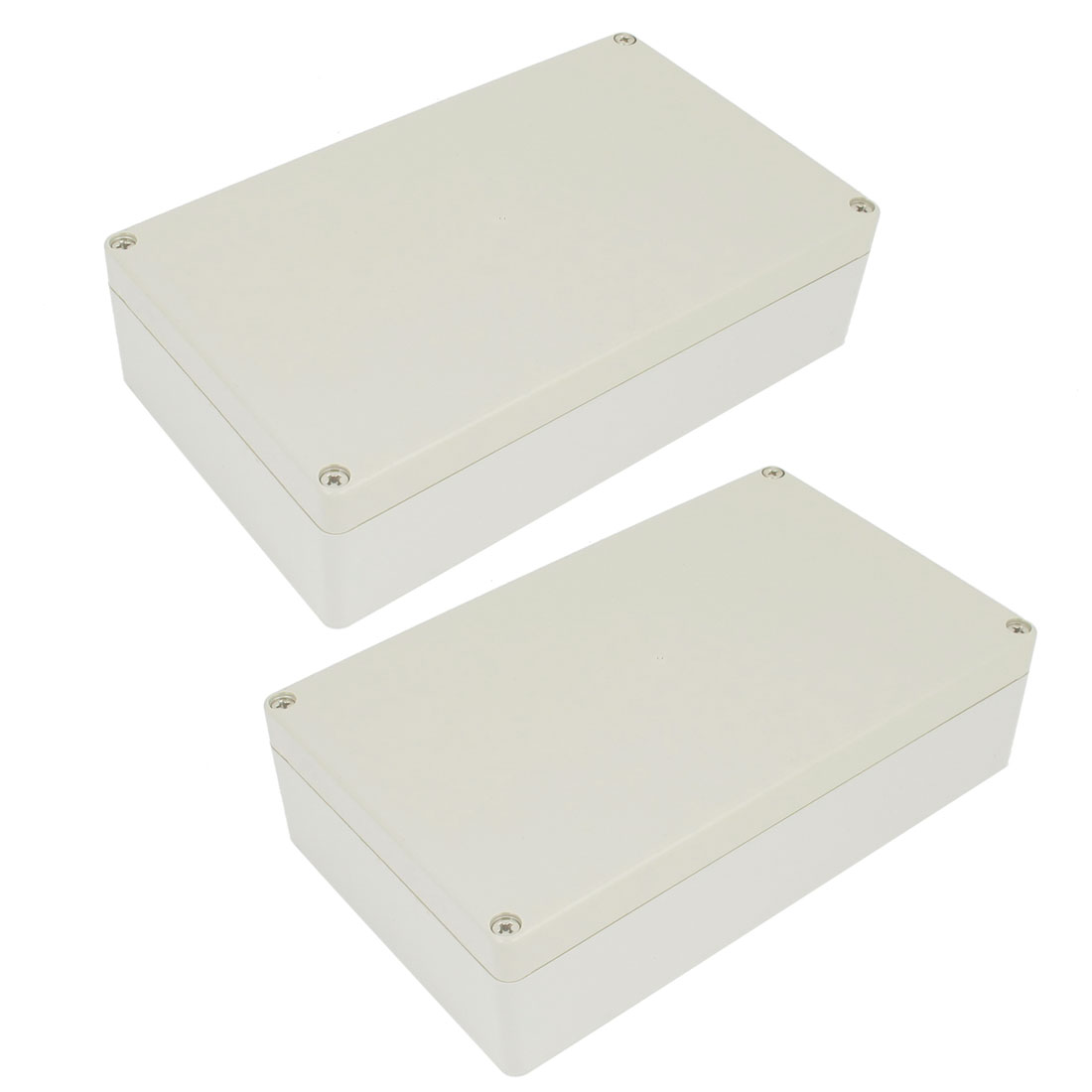 2 Pcs Plastic Mounted Power Protective Case Junction Box 199 x 120 x 56mm