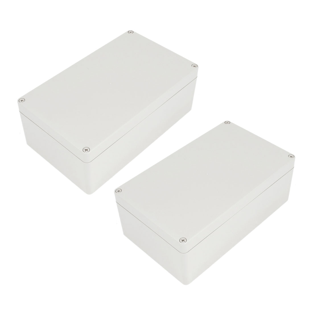 2 Pcs Plastic Mounted Power Protective Case Junction Box 199 x 119 x 74mm