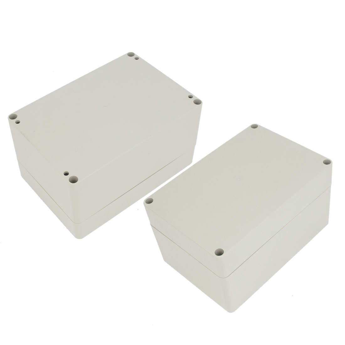 2 Pcs Plastic Mounted Power Protective Case Junction Box 159 x 109 x 91mm