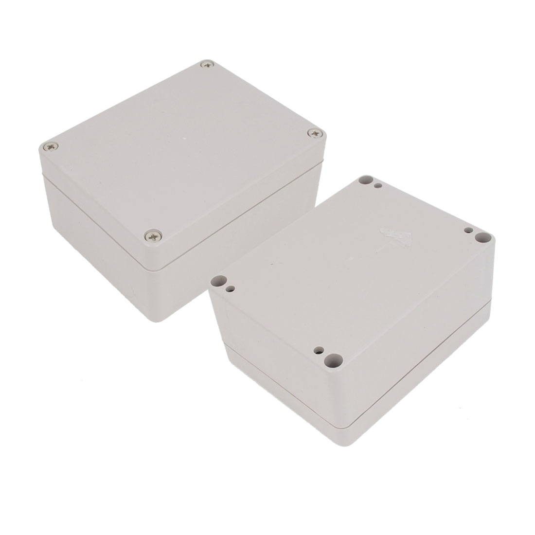 2 Pcs Plastic Mounted Power Protective Case Junction Box 114 x 88 x 54mm