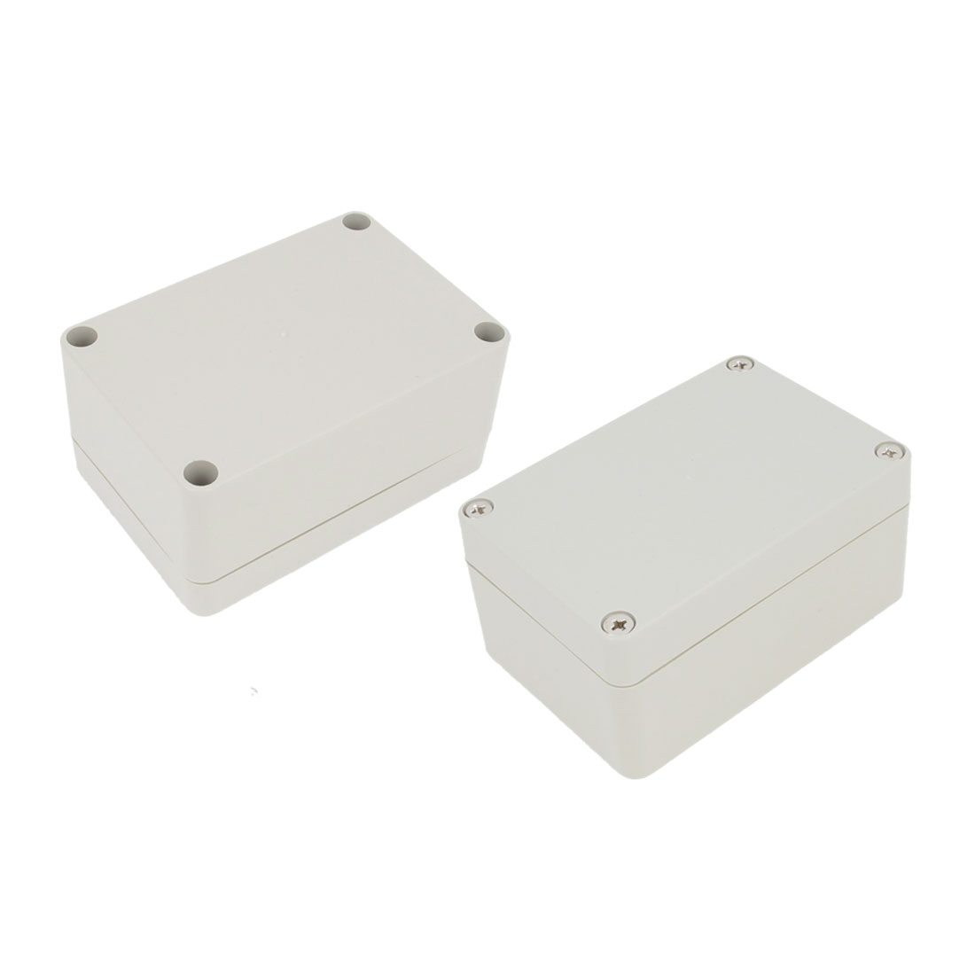 2 Pcs Plastic Mounted Power Protective Case Junction Box 98 x 67 x 49mm