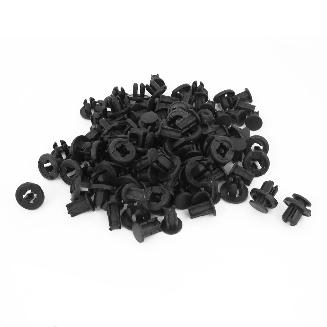 100 Pieces 10mm x 11mm Black Plastic Rivet Car Door Trim Panel Retainer Clip