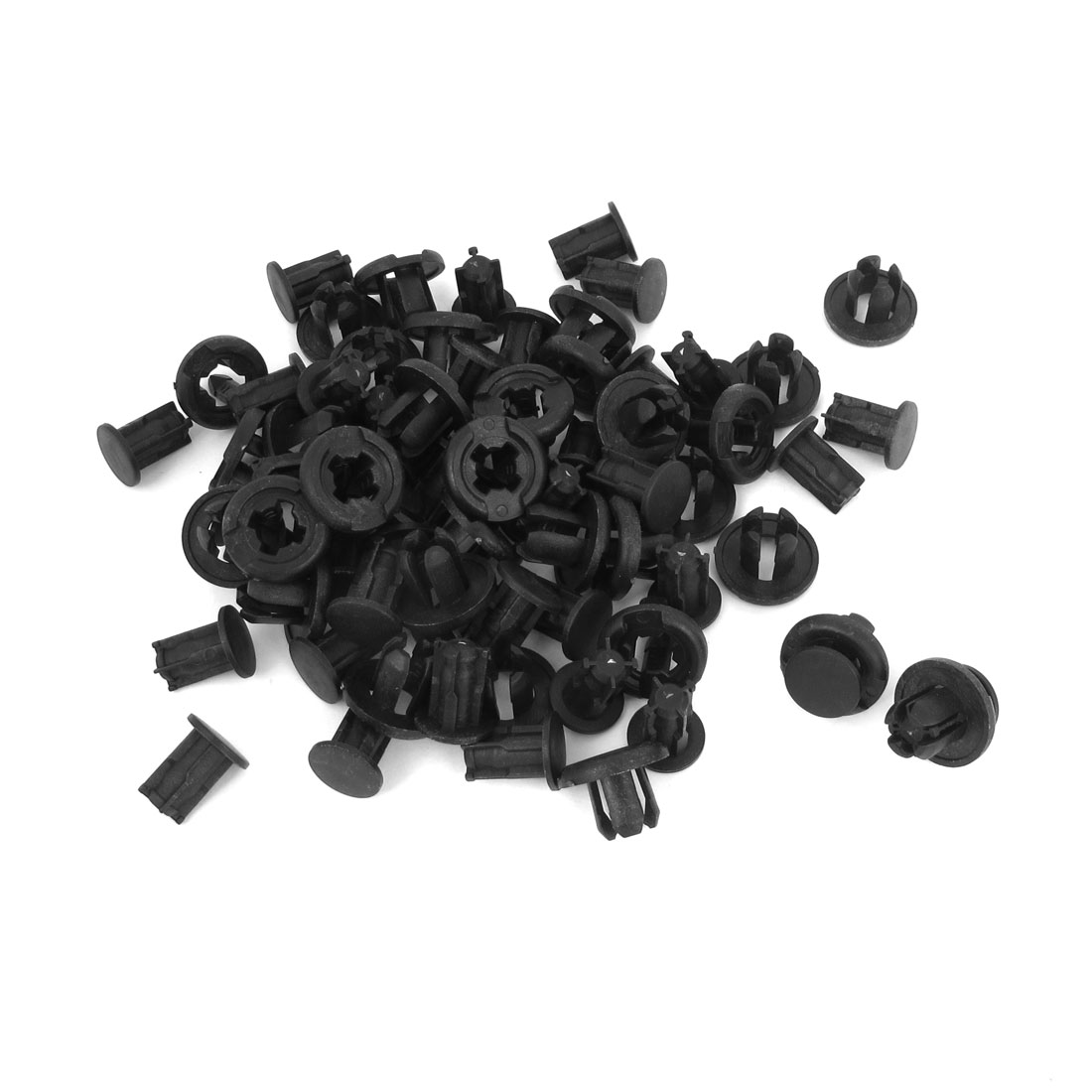 50 Pieces 8mm Hole Black Plastic Screw Rivet Car Door Trim Panel Retainer Clip