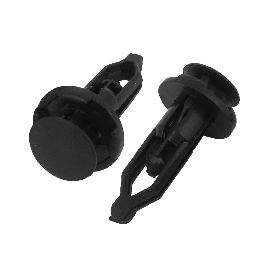 100 x 6mm Hole Plastic Rivets Fastener Push Clips Black for Car Auto Fender