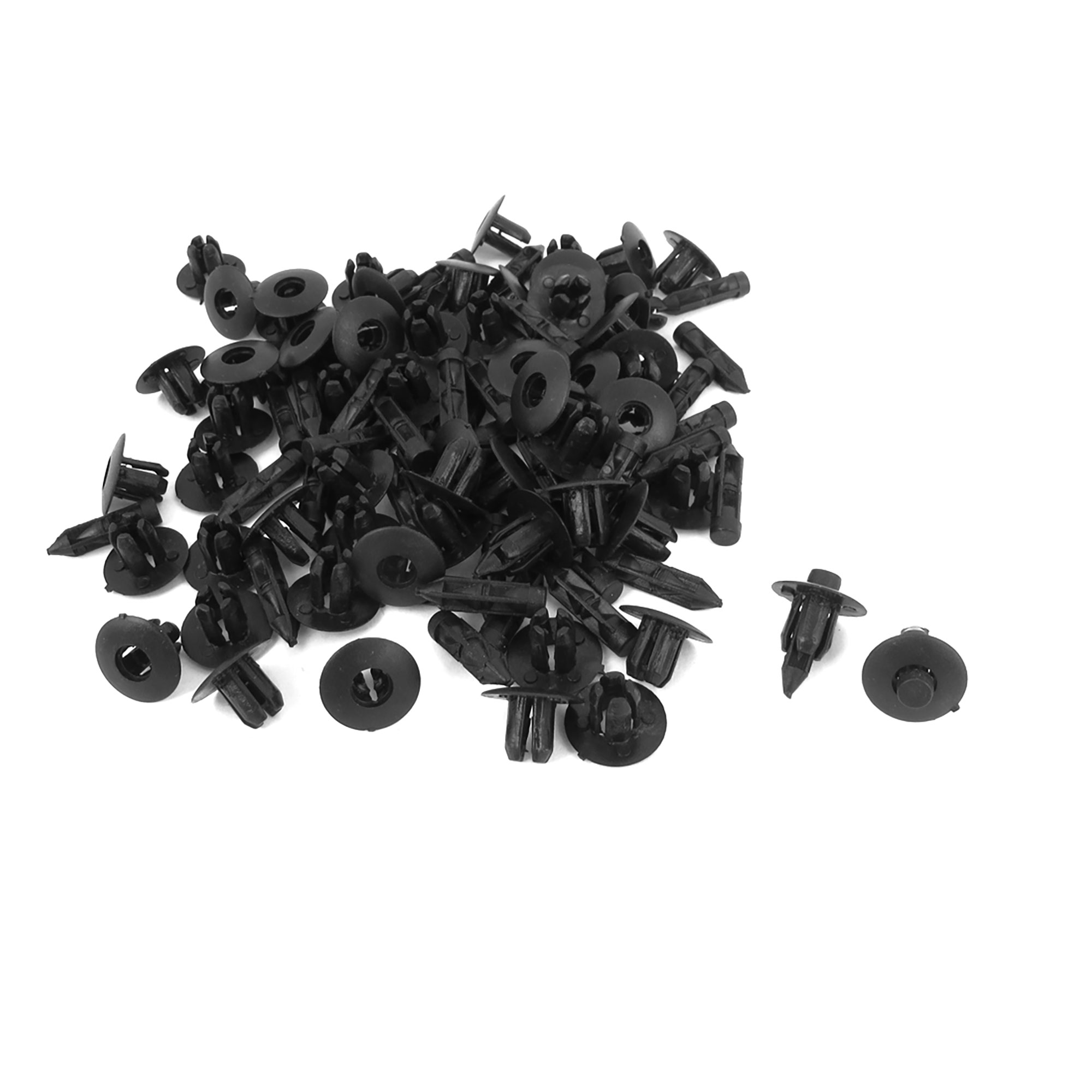Replacement Push-Type Retainer Clip Fasteners Clips Plastic Rivet 6.5mm 100 Pcs