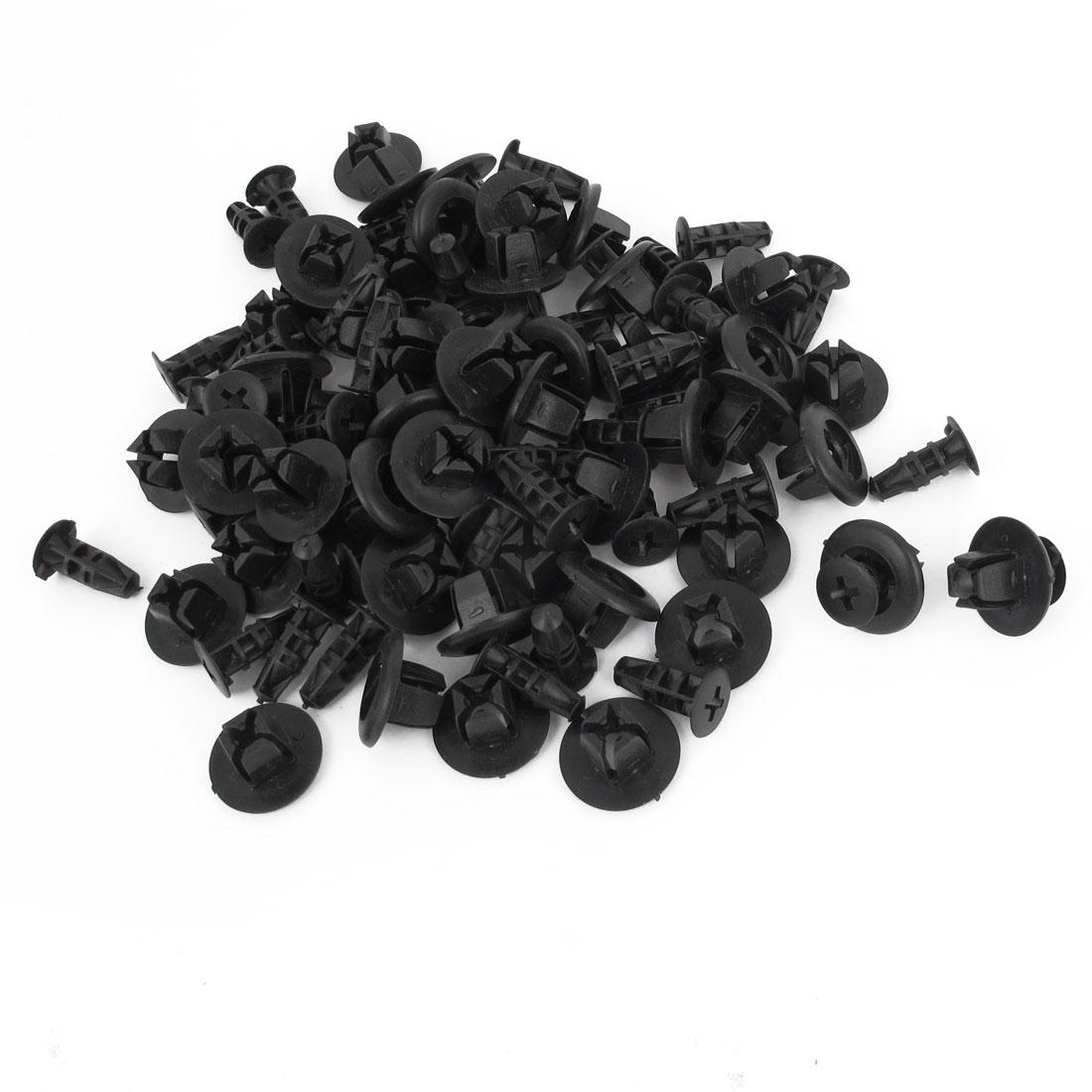 50 Pieces 6mm Hole Black Plastic Rivet Car Door Push-Type Retainer Clip
