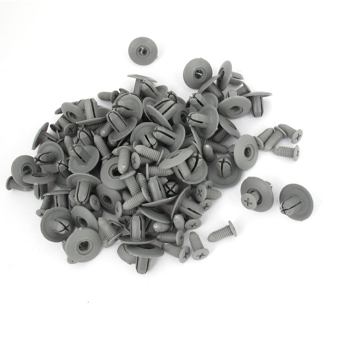 100 PCS Push in Type Plastic Rivets Fender Clips Gray for 8mm Hole