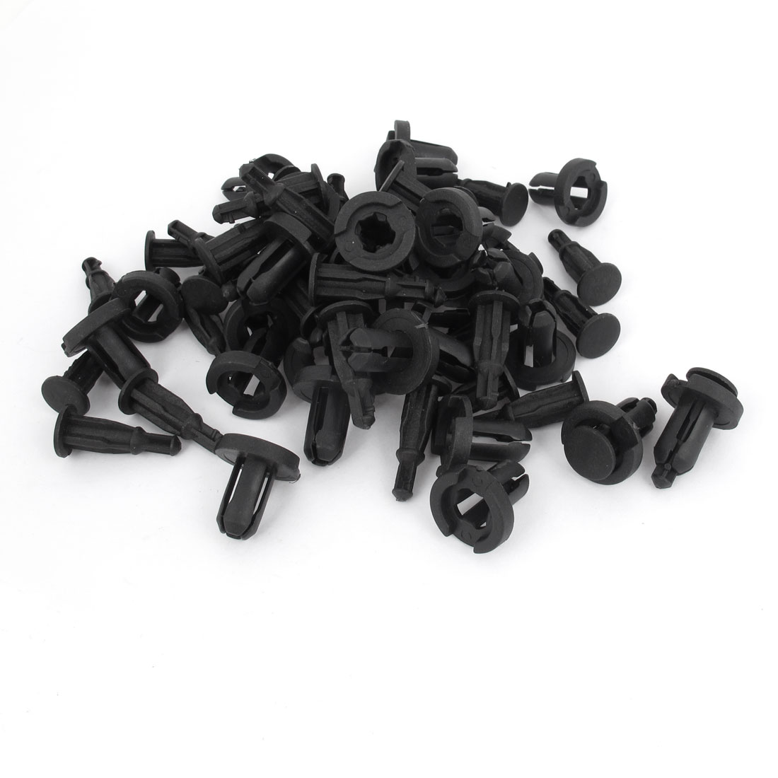50 Pieces 9mm Hole Black Plastic Rivet Car Door Trim Panel Retainer Clip