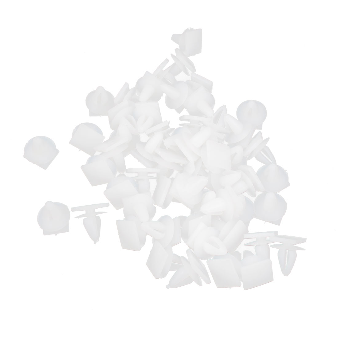 White 8mm Hole Vehicle Car Door Plastic Rivet Fastener Trim Panel Retainer Clip 50pcs