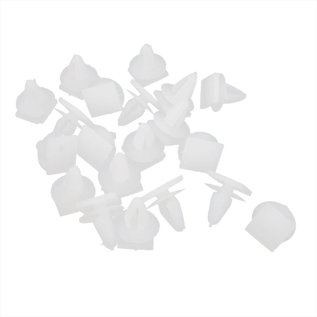 20 Pcs White Plastic Rivet 10mm x 12mm Expansion Panel Clips for Car