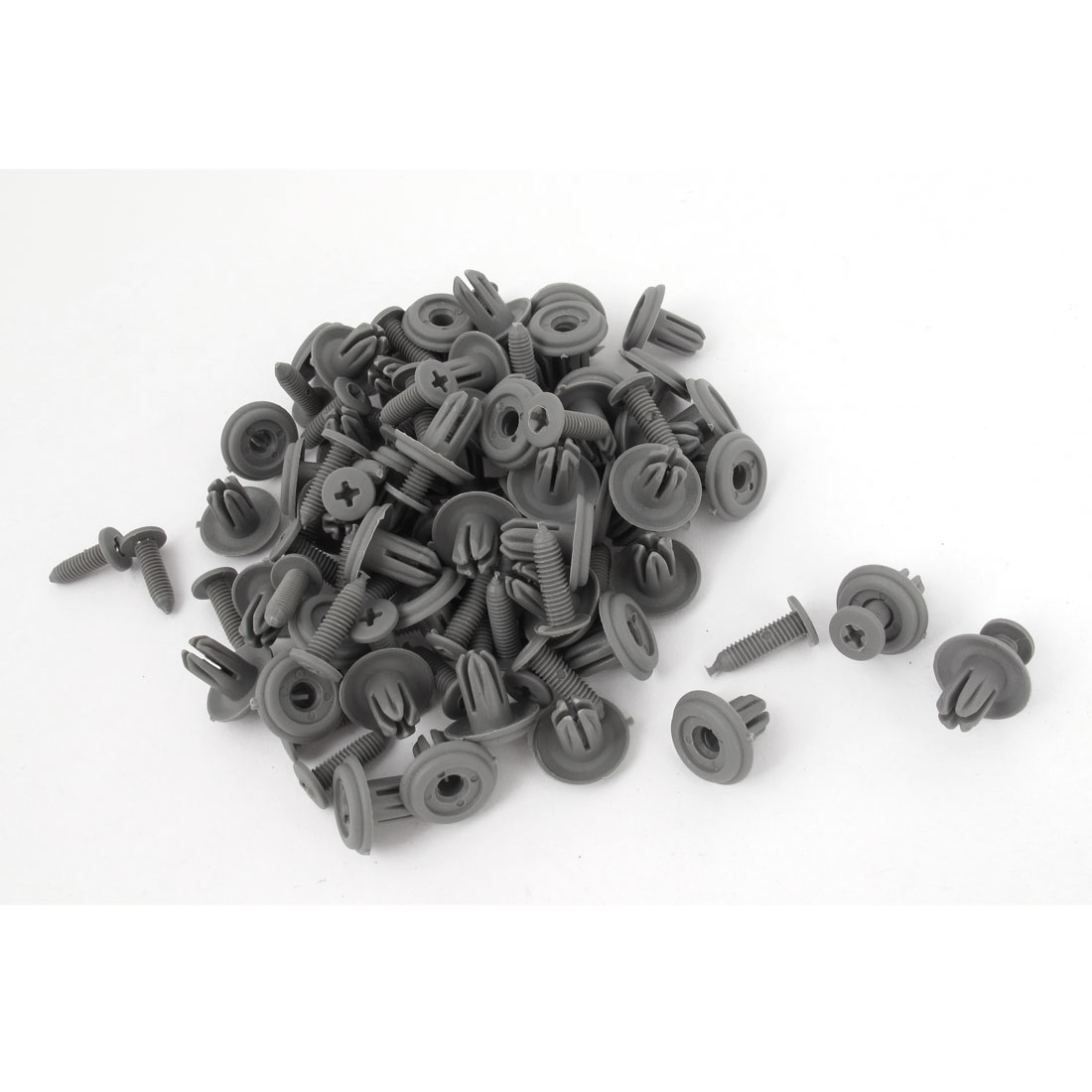 50 PCS Push in Type Plastic Rivets Fender Clips Gray 3mm x 6mm