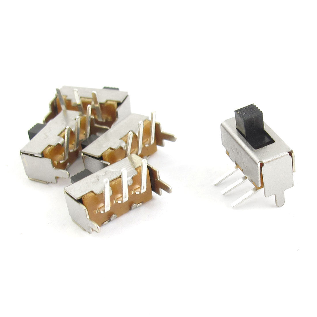5 Pcs On/Off 3 Pin SPDT Mini PCB Slide Switch Replacement DC 50V 0.3A
