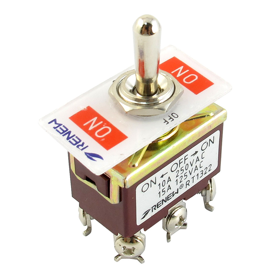 3PDT ON-OF-ON 3 Position Panel Mounted Toggle Switch AC 250V/10A 125V/15A