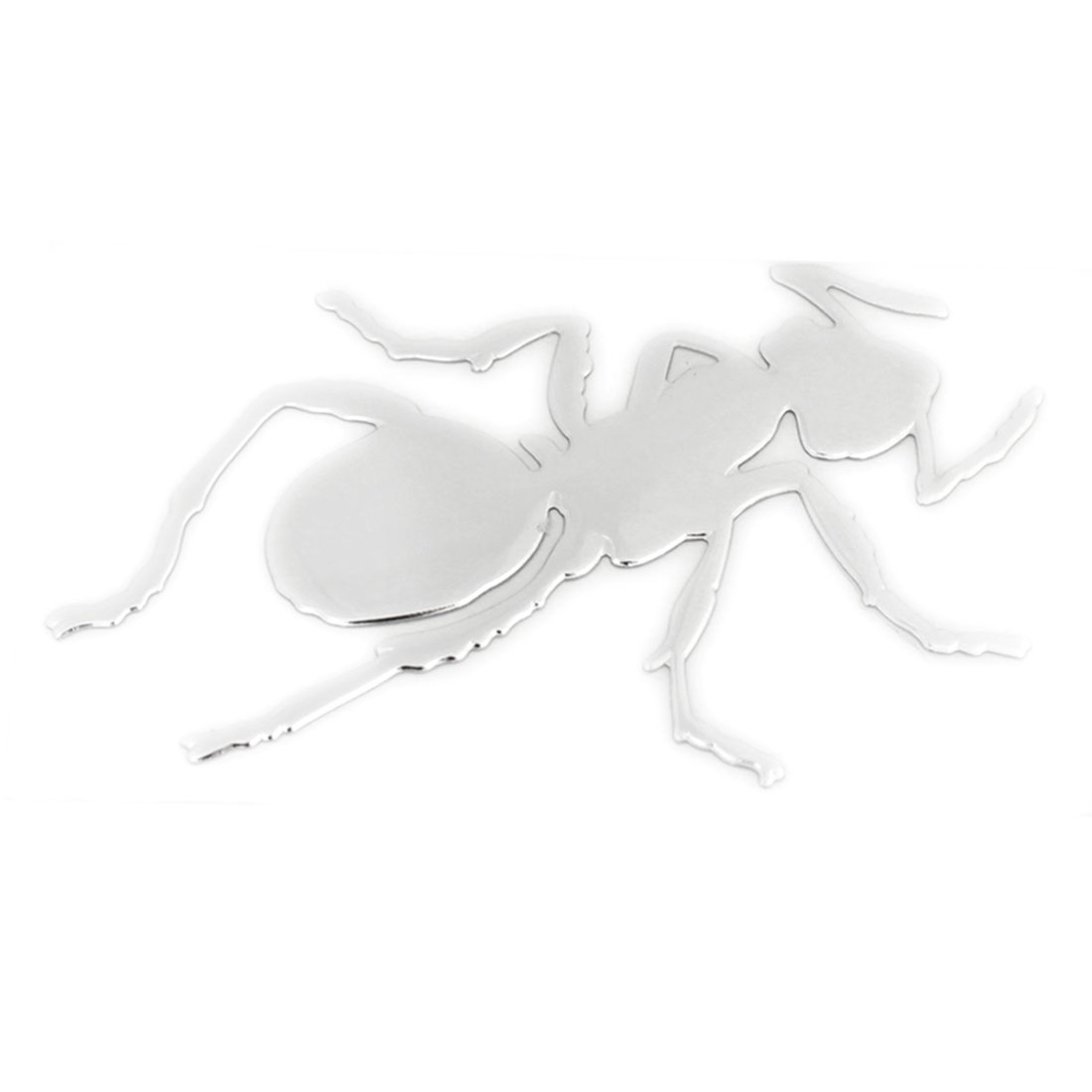 Silver Tone Insect Pattern Plastic Self Adhesive 3D Sticker Decal Ornament for Car