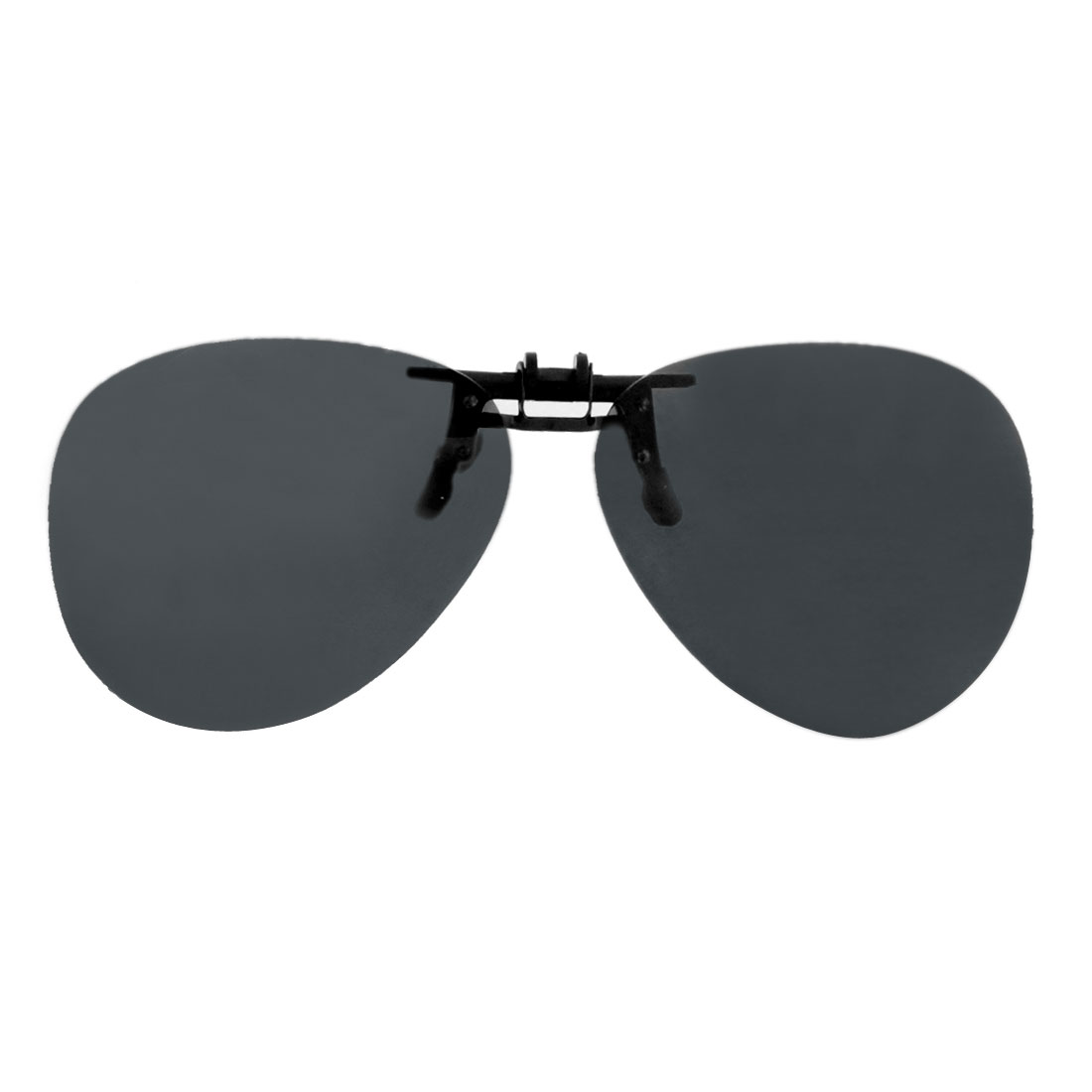 Unisex Teardrop Shape Black Lens Rimless Anti Glare Clip Polarized Sunglasses Eyeglasses