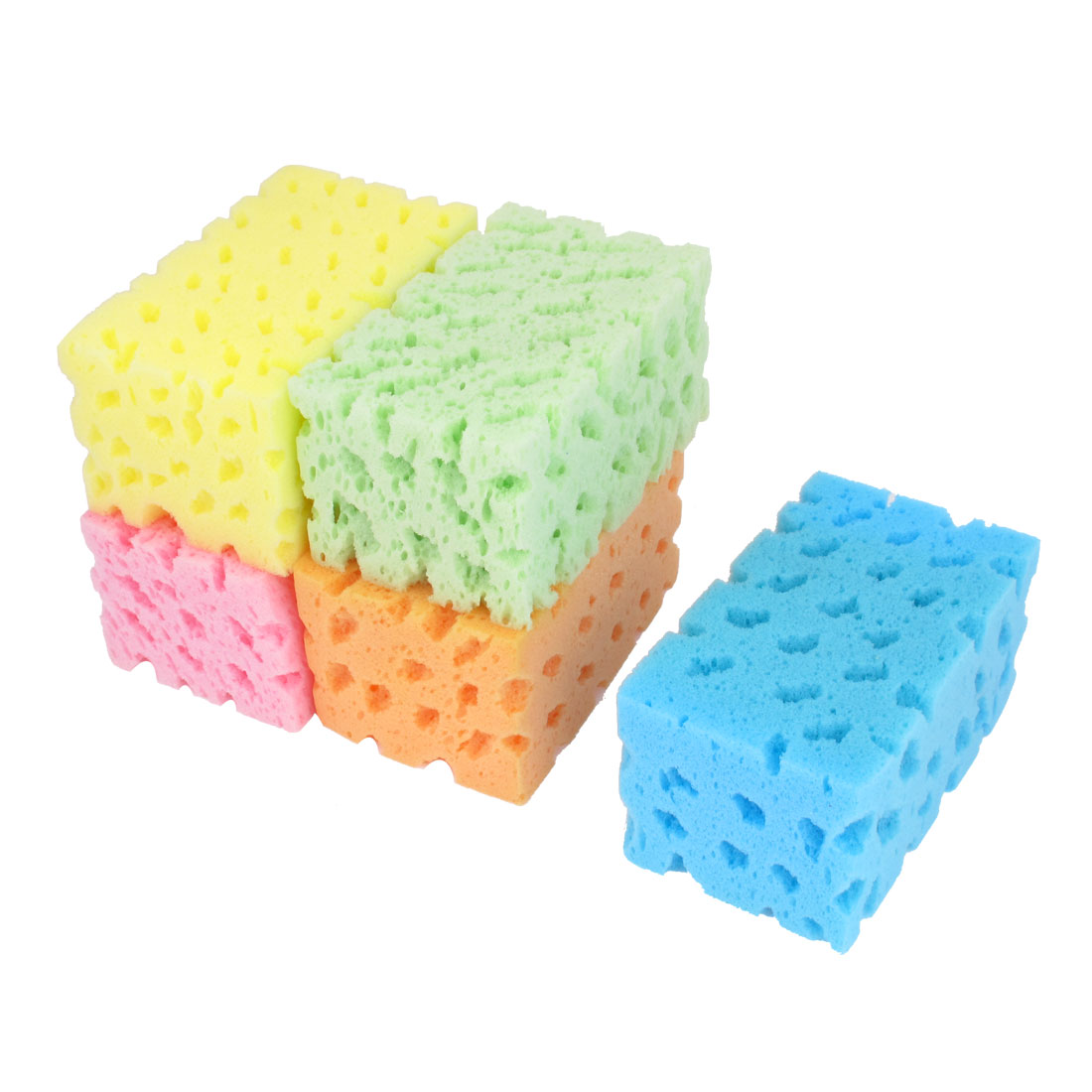 5 Pcs Colorful Bone Shape Cleaning Tool Car Sponge Pad Cushion for Car Wash