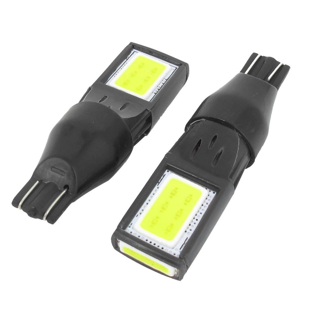 2 Pcs White LED 15 COB T15 8W Car Fog Light Brake Parking Backup Lamp Internal