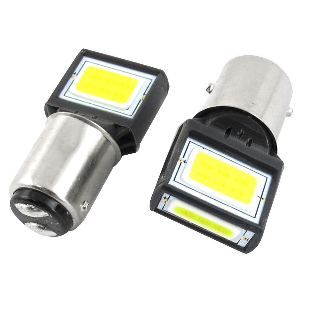 2 Pcs White 15 COB 1157 Brake Tail Light Bulb 8W DC 12V for Auto Car