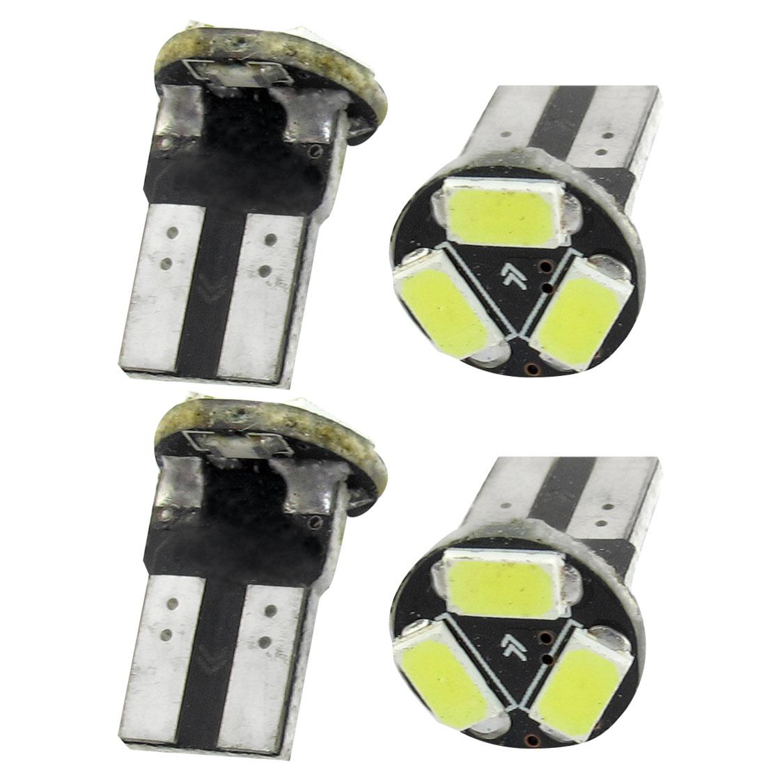 4 Pcs Car Canbus T10 White 5630 SMD 3 LED Wedge Light Turning Lamp Bulb 12V Internal