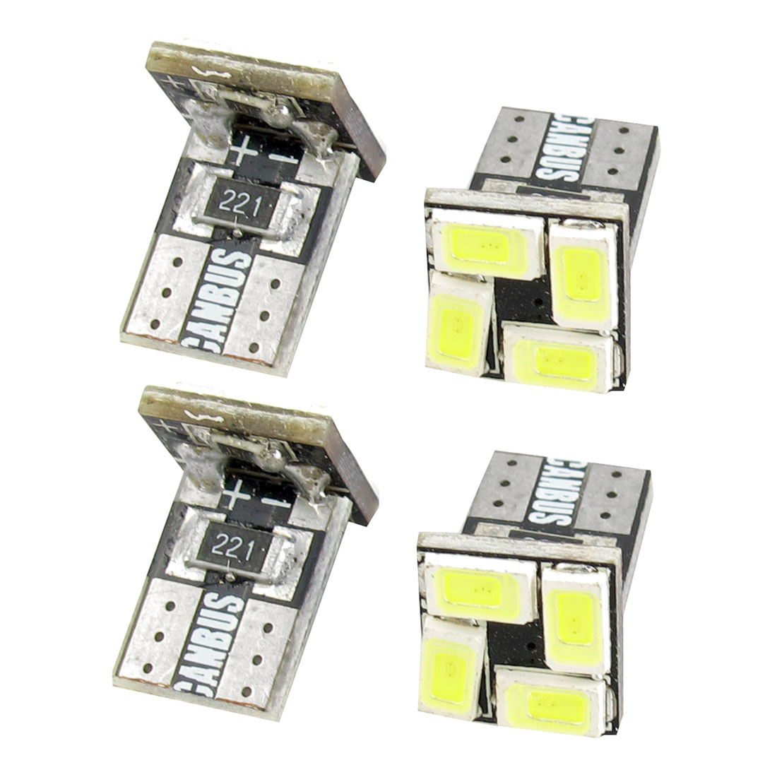 4 Pcs T10 W5W Canbus White 5630 SMD 4 LED Car Dashboard Light Lamp Internal