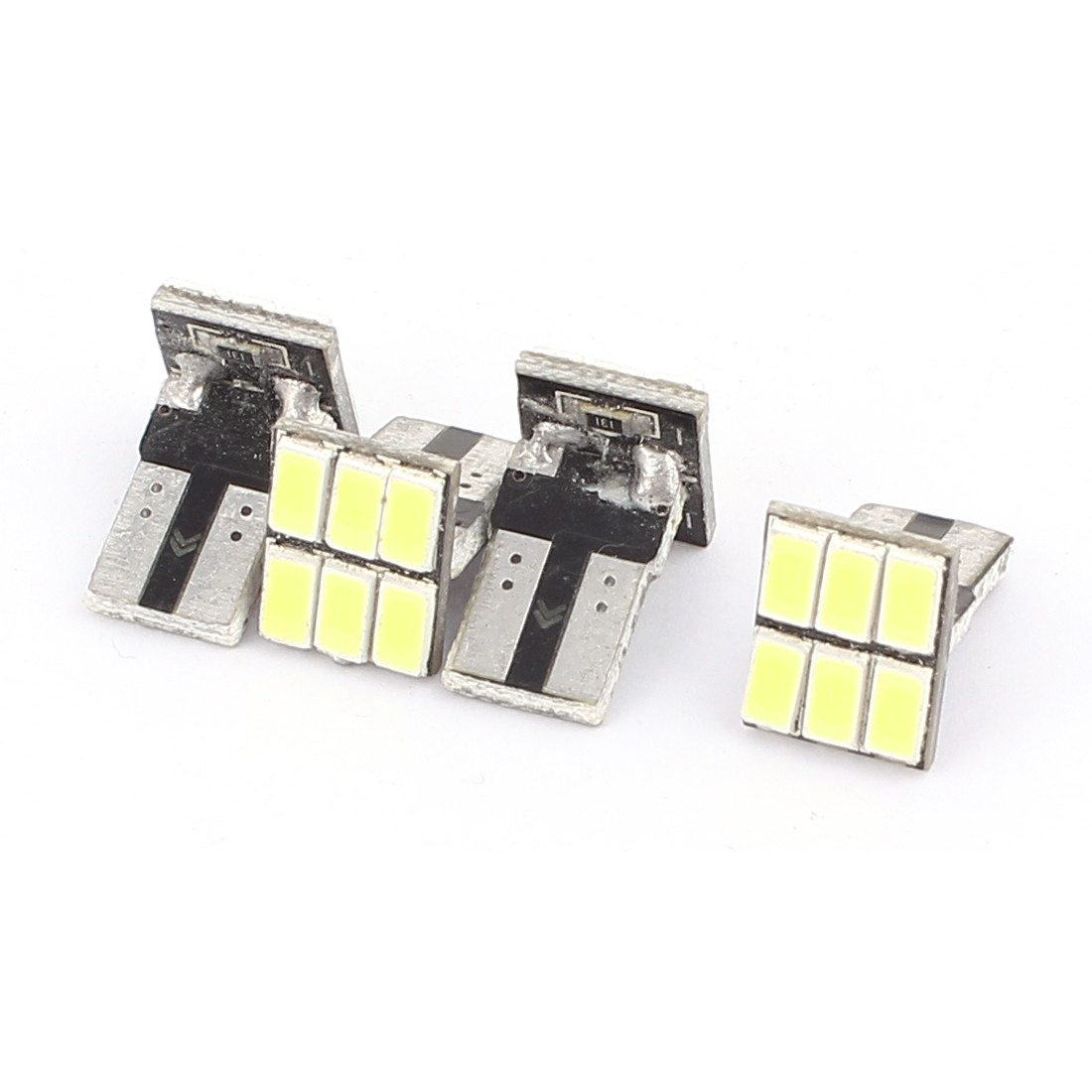 4 Pcs Car T10 White 5630 SMD 6 LED Wedge Light Canbus Signal Turn Lamp Bulb Internal