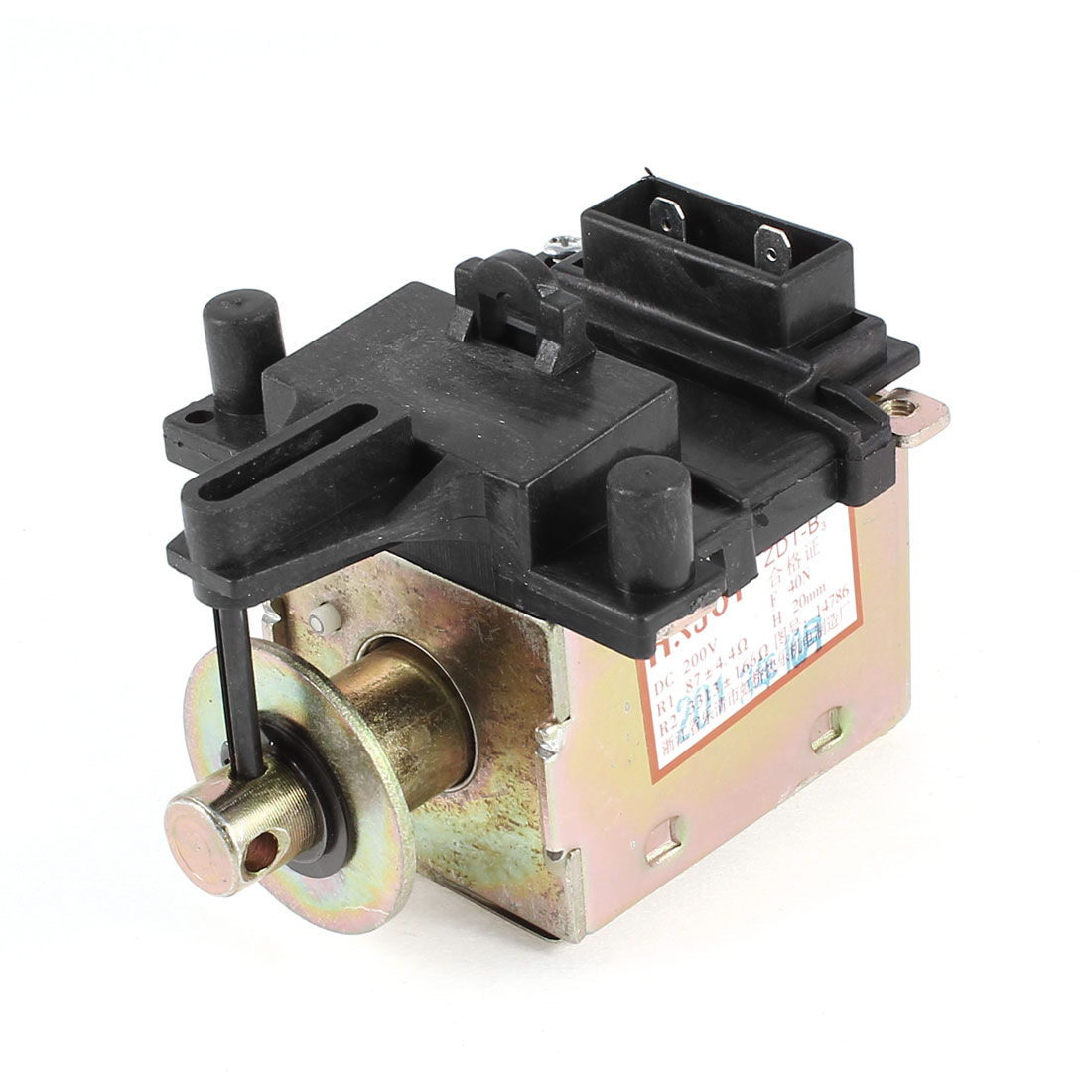 DC 200V 16mm Stroke Water Drain Electromagnetic Valve for Washing Machine