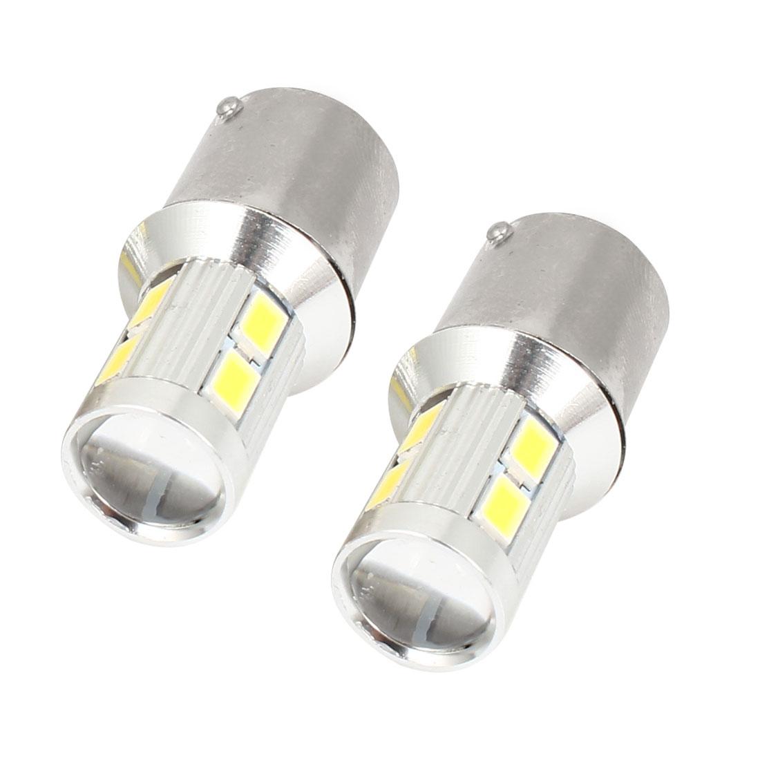 Pair 1156 10 White 5630 SMD LEDs Auto Car Turning Signal Lamp Corner Bulb 12-30V