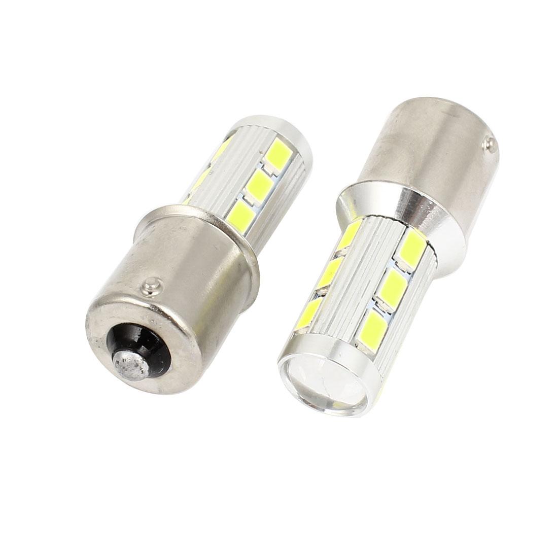 Pair 12-30V 1156 14 5630 SMD LEDs Braking Bulb Stop Light Bulb White for Car