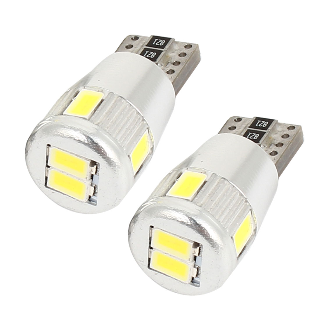 Car Cambus T10 W5W 6 5630 SMD LED Signal Bulb Light Turning Lamp 12V 2 Pcs internal