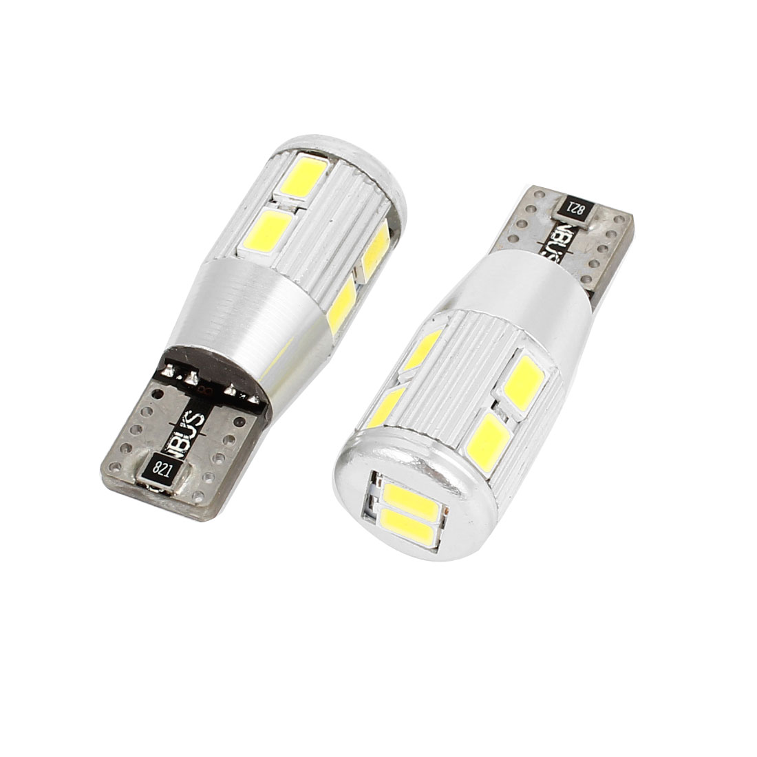 Pair T10 Van 5630 SMD 10 LED Side Marker Parking Light Turn Bulb White internal