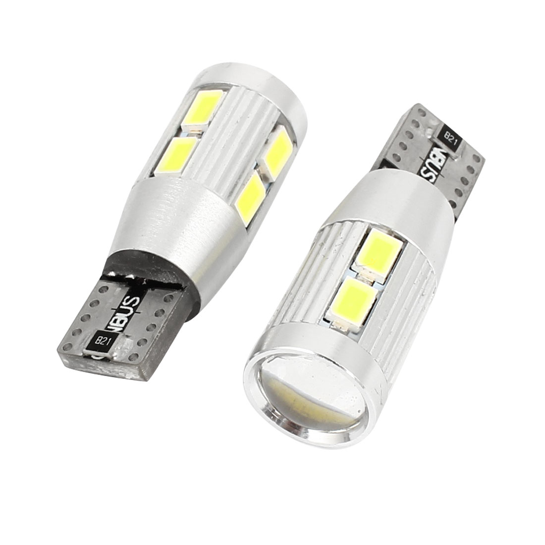 Pair No Error T10 White 10 LED 5630 SMD Dashboard Side Bulb Signal Light Internal