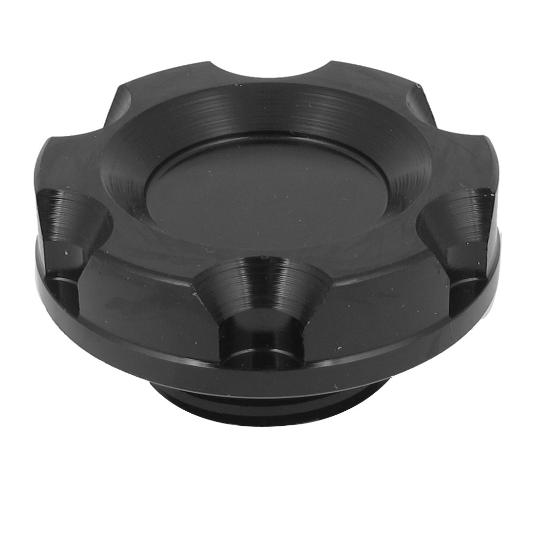 Car 50mm Dia Black Metal Engine Oil Filler Fuel Cover Cap Replacement for Honda