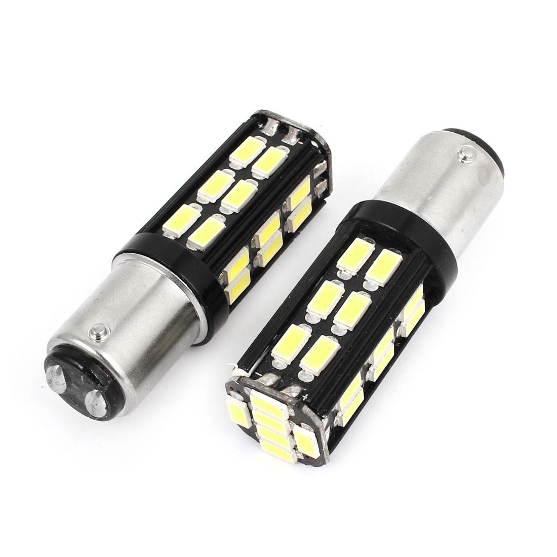 Pair No Error 12-24V 1157 5630 30-SMD White LED Brake Turn Signal Light for Car