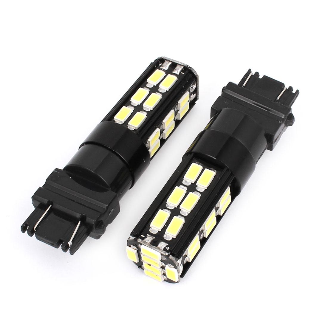 Pair 12-24V No Error 3157 Car White 30 5630 SMD LED Light Turn Signal Tail Lamp