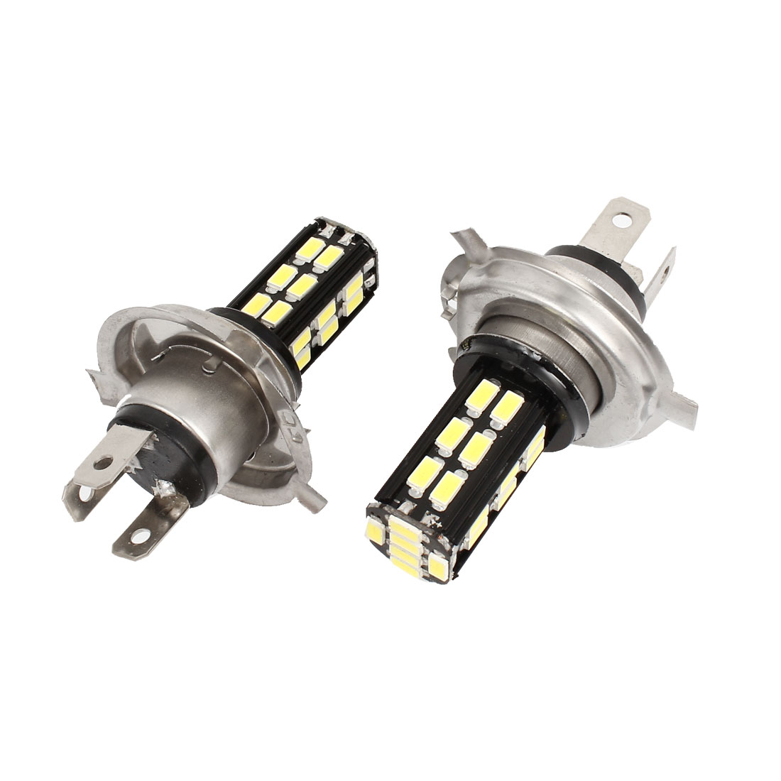 2 Pcs Car No Error 12-24V White H4 5630 SMD 30 LED DRL Headlight Fog Light Lamp