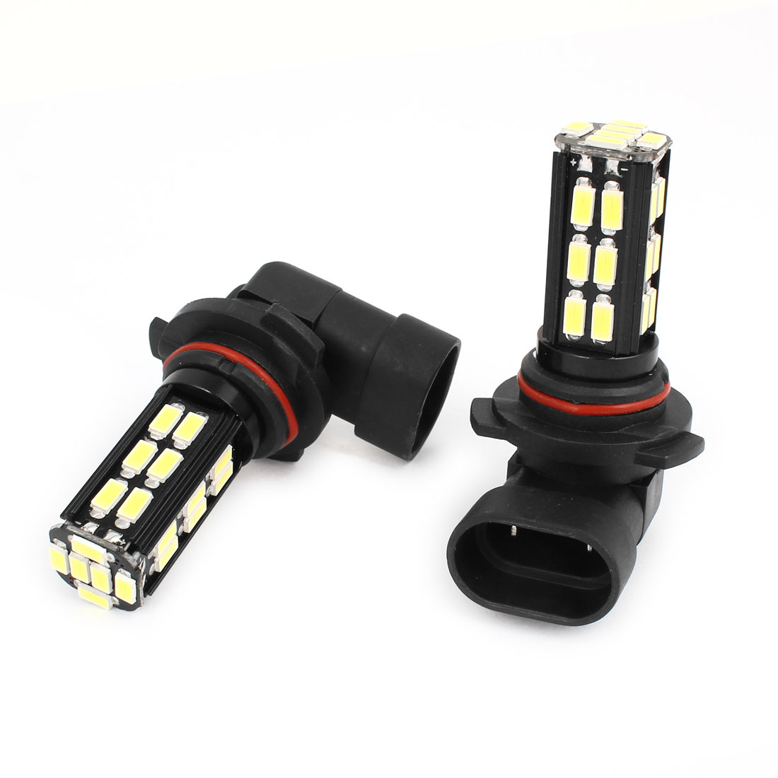 2 Pcs 9006 5630 30 SMD LED DRL Headlamp Fog Light White 12-24V