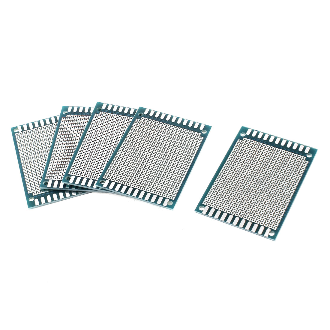 7cm x 5cm Single Side Tinned Universal Prototype PCB Circuit Board Teal 5pcs