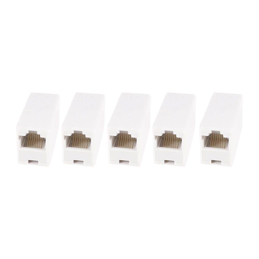 5 Pcs RJ45 8P8C Female to Female Network Cable Inline Coupler Connector