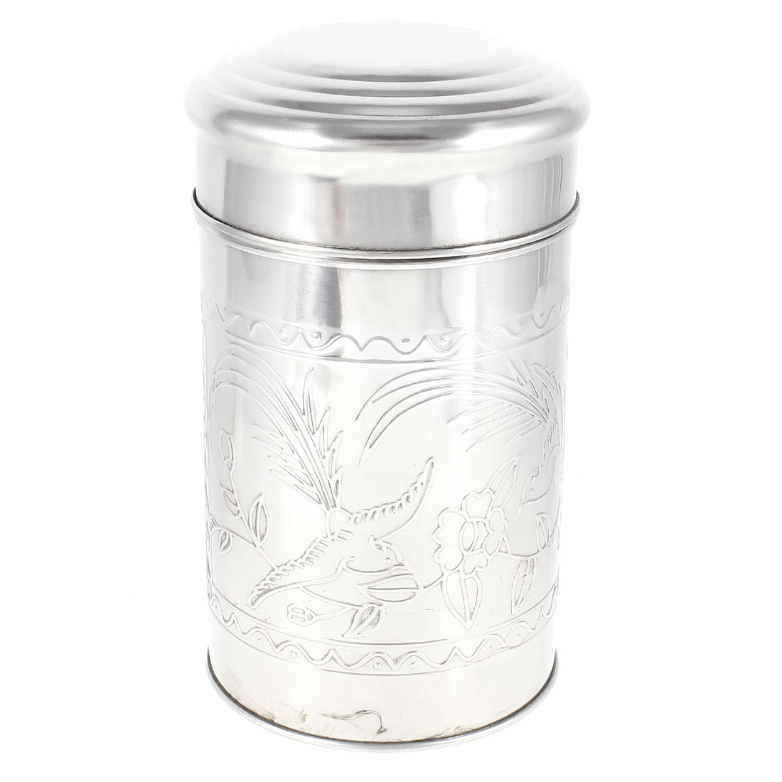 Bird Flower Pattern 300g Capacity Tea Canister Bottle Holder