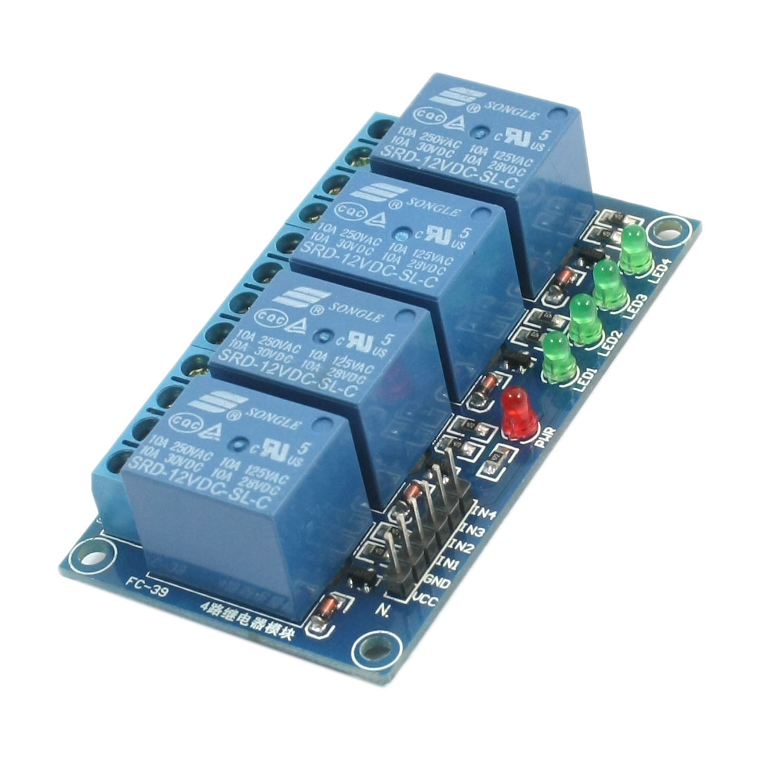 Replacement 4-Channel High Level Trigger Relay Module DC 12V for PIC ARM