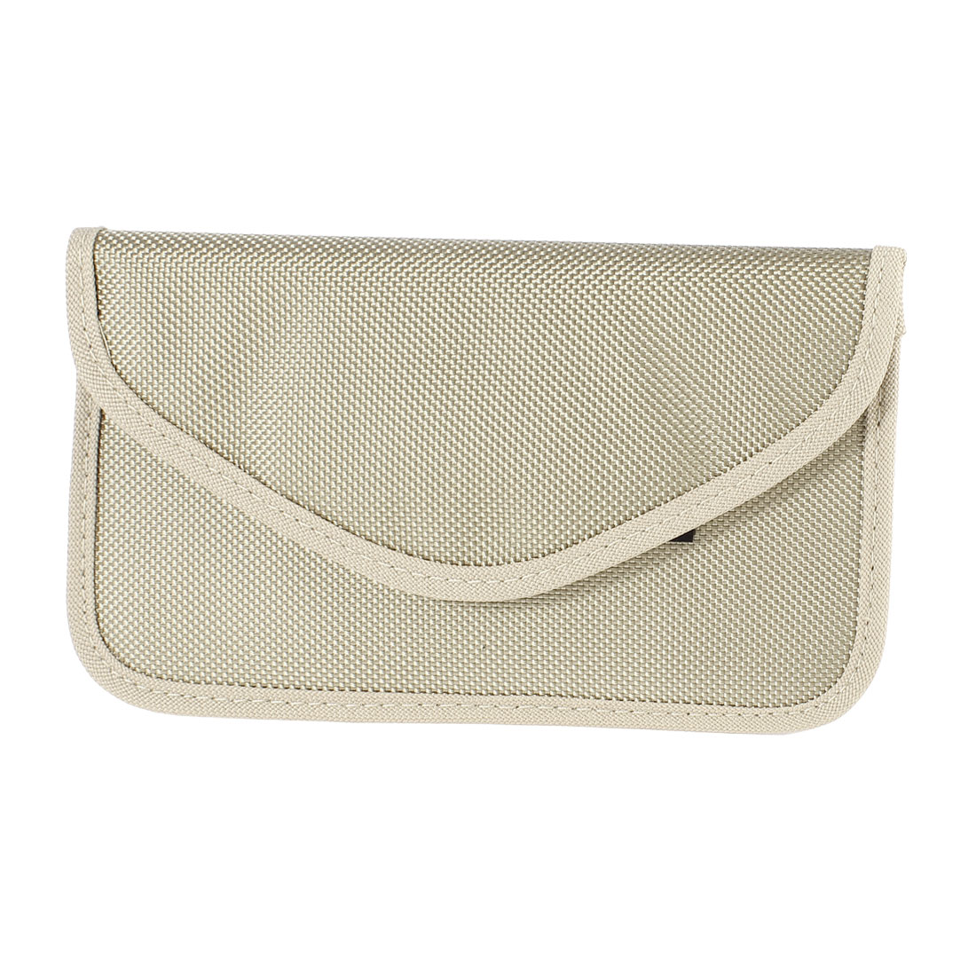 Cell Phone Textured Cloth Pouch Case Bag Holder Beige