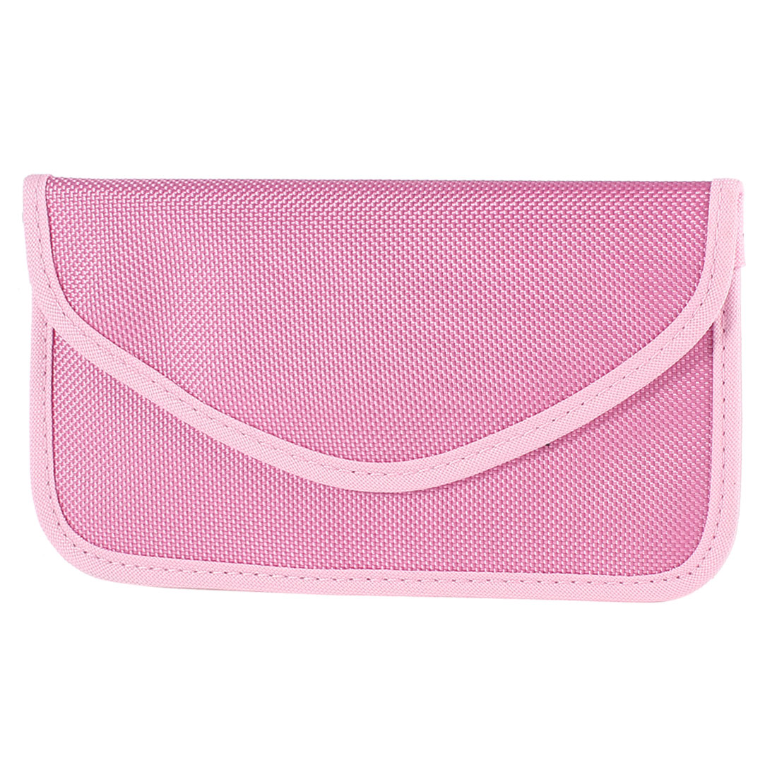 Mobile Phone Textured Cloth Anti-static Pouch Case Bag Pink