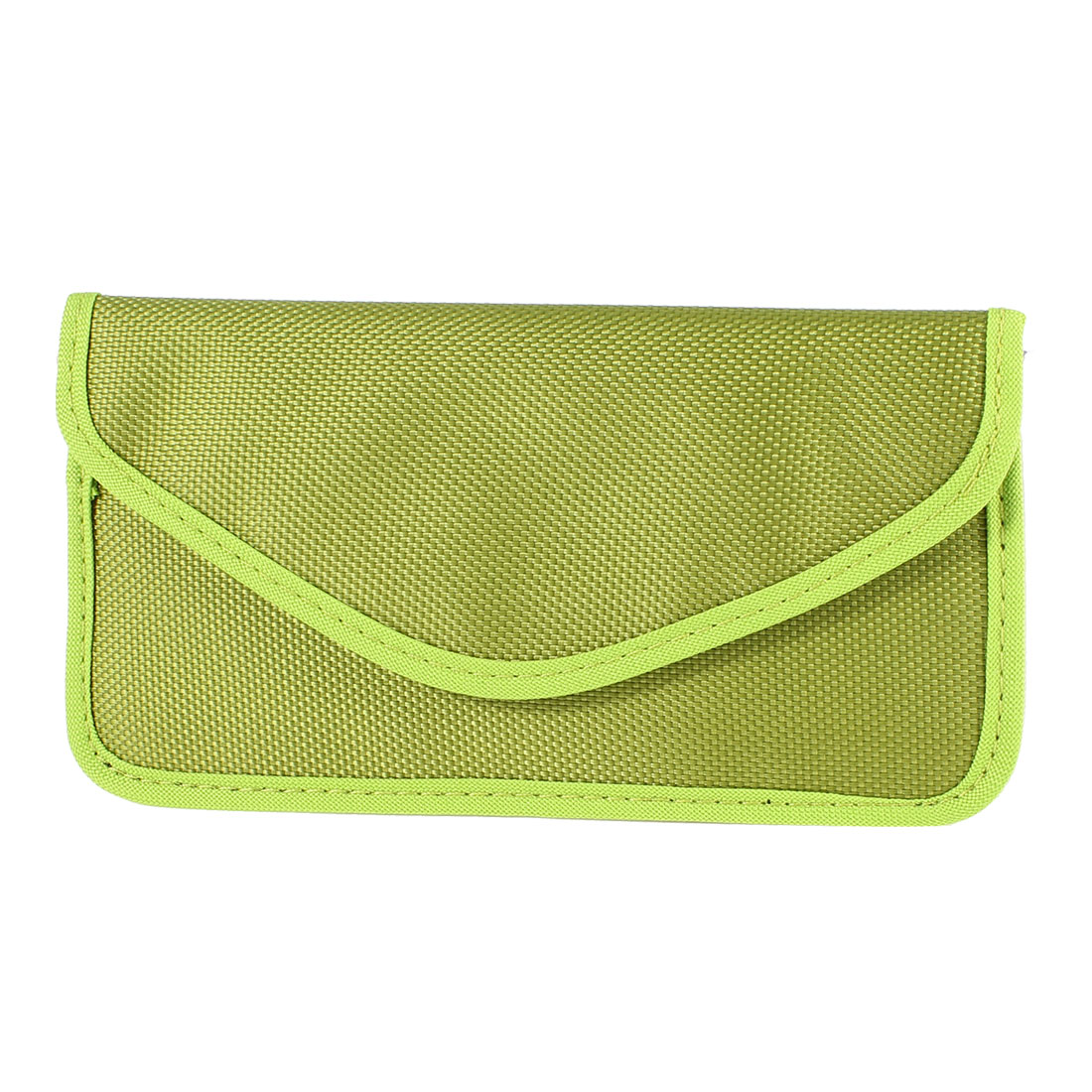 Cell Phone Textured Cloth Rectangle Shape Anti-static Pouch Case Bag Green