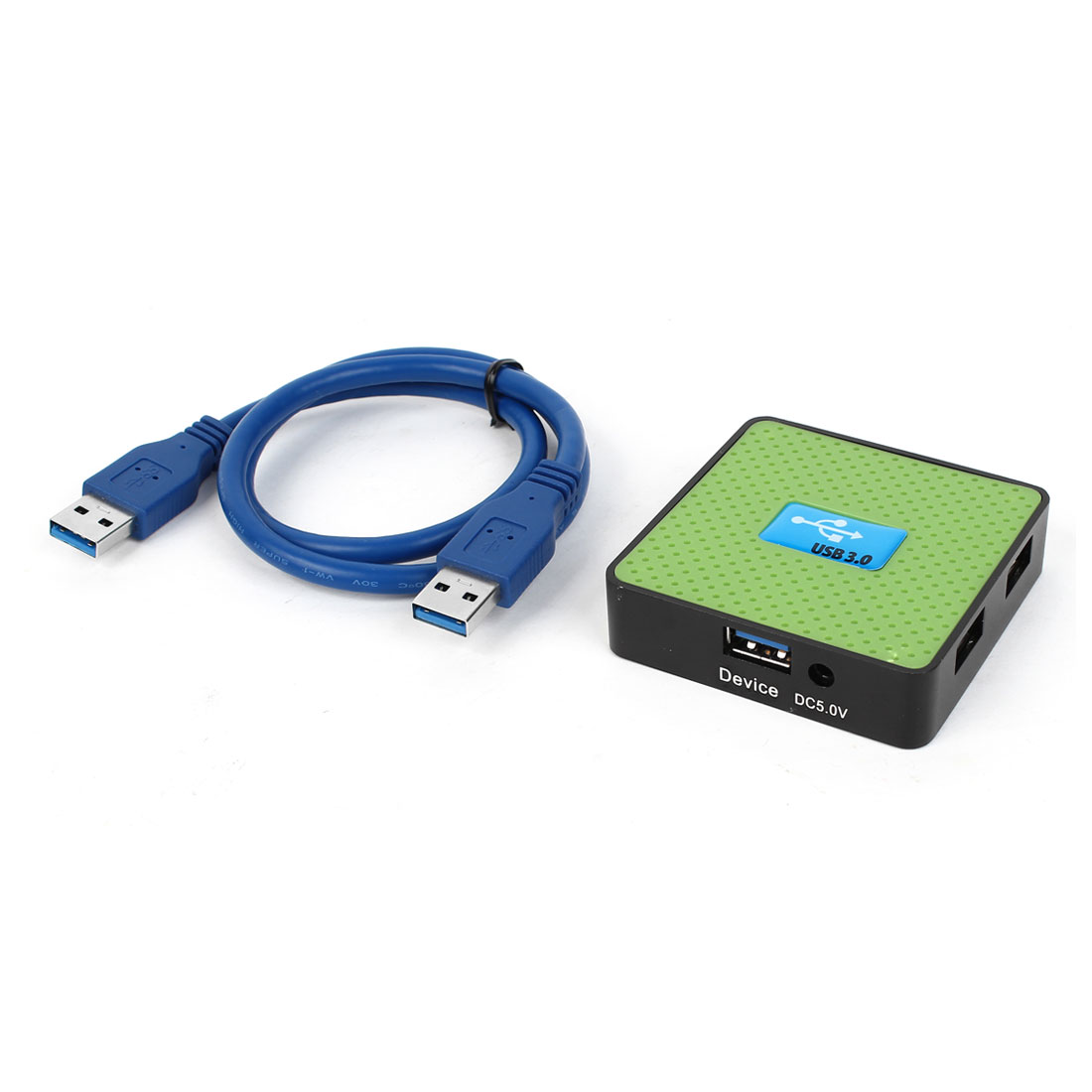 Square 4 Ports High Speed USB 3.0 Powered Adapter Hub Splitter for Laptop Computer