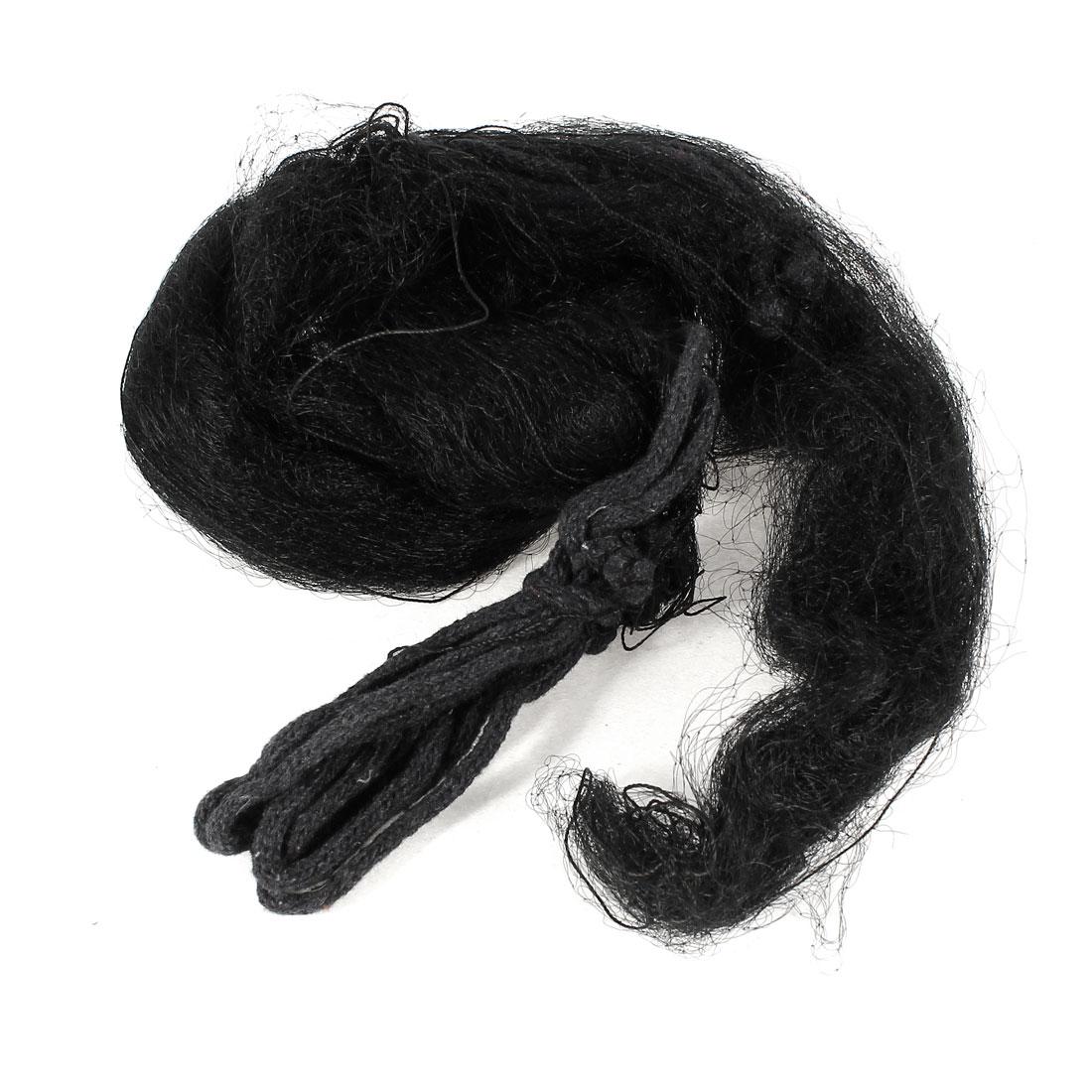 25mm Hole Garden Anti Bird Netting Nylon Knotted Mist Net Black 12 x 2.5m