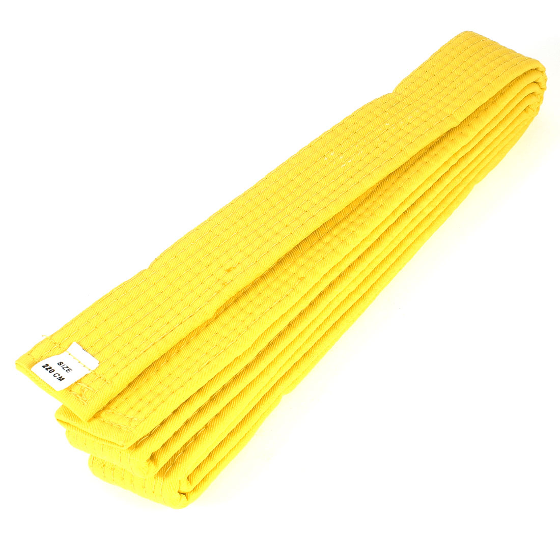 Yellow 220cm Length Flexible Karate TaeKwonDo Judo Belt