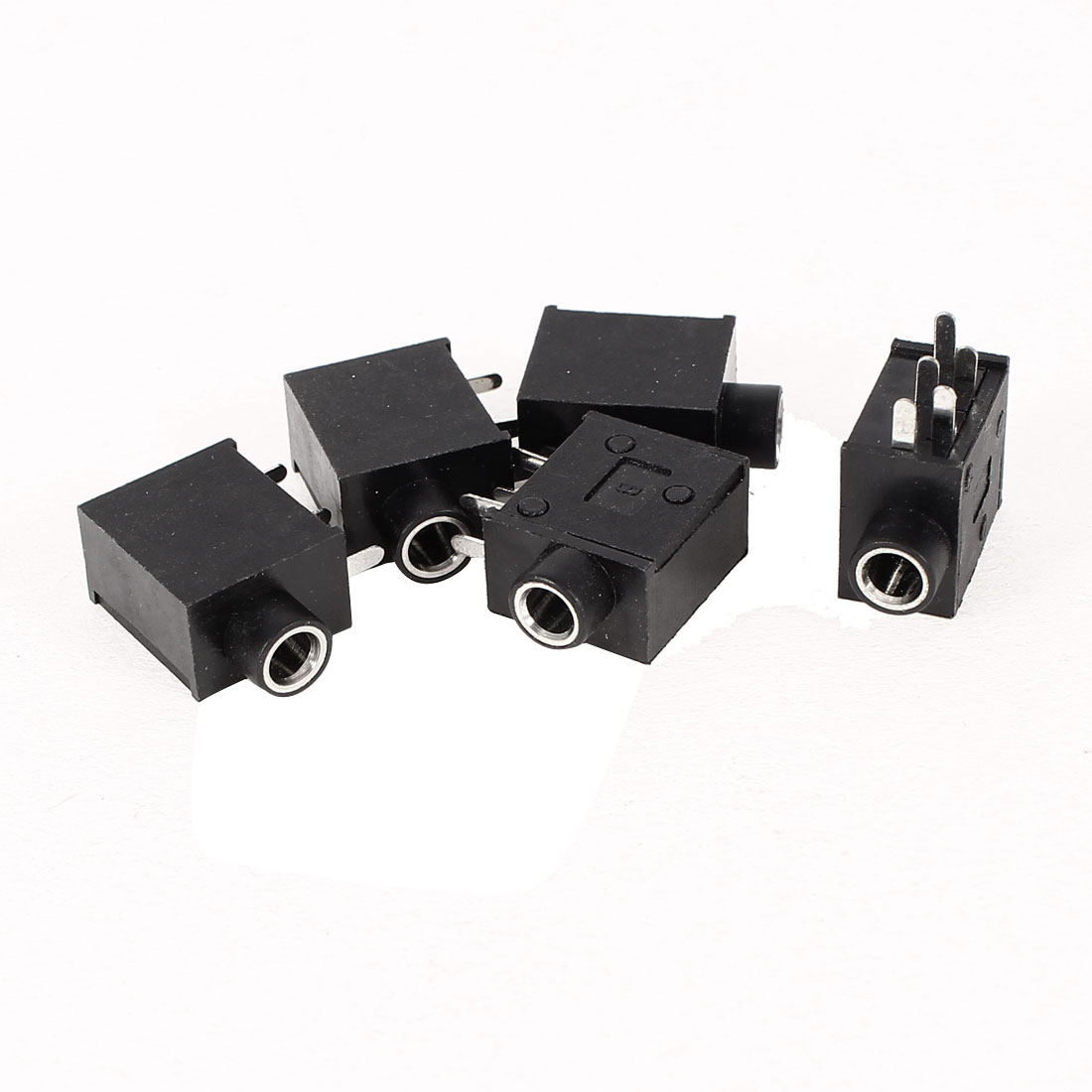 5 Pcs PCB Mount 5 Poles Terminals 3.5mm Female Stereo Audio Jack Socket Connector