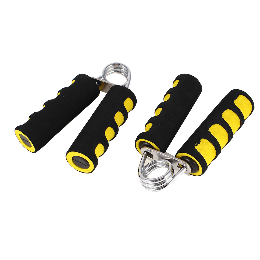 Fitness Exercise Hand Grippers Wrist Arm Strength Yellow Black 2pcs